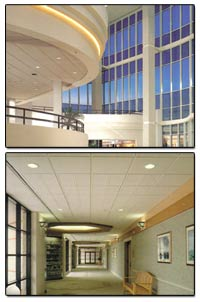 Contact us for custom wall systems, acoustical ceilings, ceiling tiles, and other finish materials for your building's walls, ceilings, and other interior surfaces.
